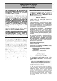Amtsblatt Kultus und Unterricht Nr. 9/2011 vom 2. Mai ... - Kultusportal