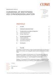 indhold vurdering af erstatning ved dyrkningsdeklaration