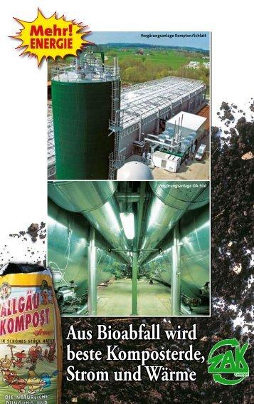 Aus Bioabfall wird beste Komposterde, Strom und Wärme - ZAK