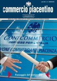 Passaggio del testimone - Unione Commercianti di Piacenza