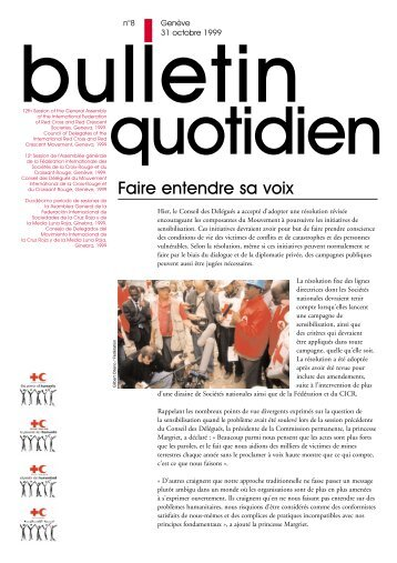 Bulletin Quotidien No8 - International Red Cross and Red Crescent ...