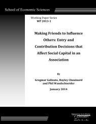Making Friends to Influence Others - Washington State University