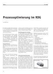 Prozessoptimierung im RDG