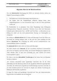 Bachelor - Wirtschafts- und Sozialwissenschaftliche Fakultät ...