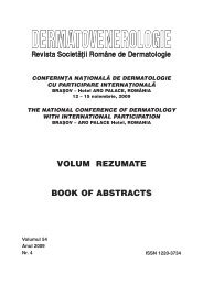 conferinta 2009 - Societatea romana de dermatologie
