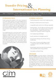 Transfer Pricing and International Tax Planning.ai - Chartered Tax ...