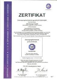 ZERTIFIKAT I} CERTIFICATE o - ZAK