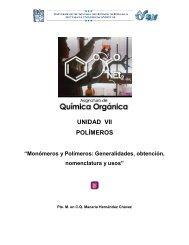 UNIDAD VII POLÍMEROS - UAEH