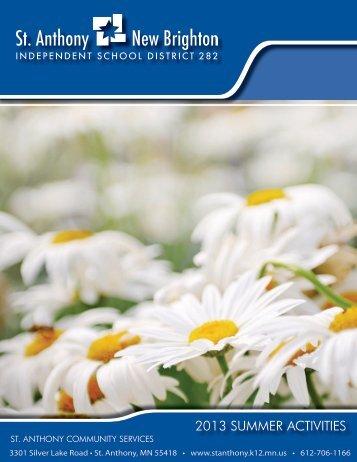 Summer Brochure - St. Anthony-New Brighton Schools