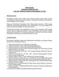perijinan sarana kesehatan calon tenaga kerja indonesia (ctki)