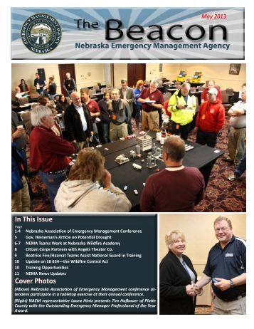 May 2013 Issue of NEMA's Newsletter The Beacon - Nebraska ...