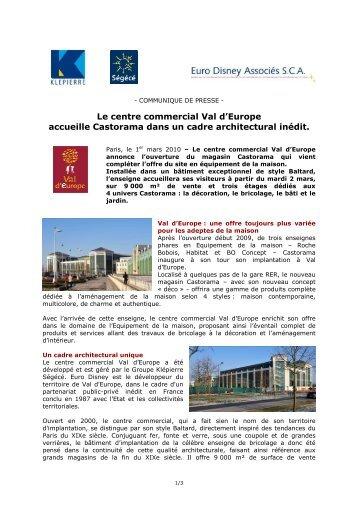 Le centre commercial Val d'Europe accueille Castorama dans un ...