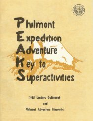 1985 Leaders Guidebook and Philmont Adventure hineraries