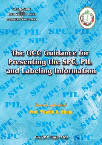 The GCC Guidance for Presenting the SPC, PIL and Labeling ...