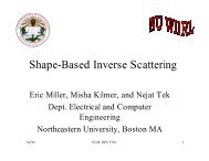 Shape-Based Inverse Scattering - CenSSIS - Northeastern University