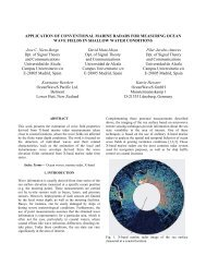 Application of conventional marine radars for measuring ocean ...