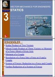 Rijid Cisimler- Eşdeger Kuvvet Sistemi-2 - Dr. Nusret MEYDANLIK