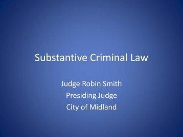 Substantive Law.pdf - Texas Municipal Courts Education Center