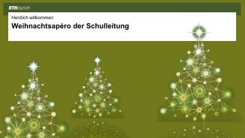 131212 Weihnachtsapero_SL - D-PHYS News - ETH Zürich