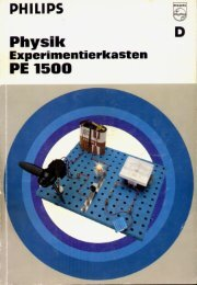 Page 1 PHILIPS ierkasten Physi Experiment PE 1500 Page 2 ...
