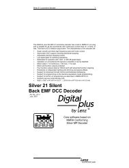 Silver 21 Silent Back EMF DCC Decoder - Lenz USA