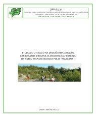 SUO - Eksploatacija karbonatne sirovine za ... - Istarska županija