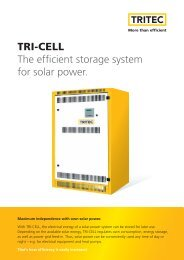 TRI-CELL The efficient storage system for solar power. - Solar-Bazaar