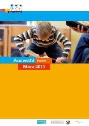 0_Auswahl_Deckblatt_PS_März 2011 - Jedem Kind ein Instrument