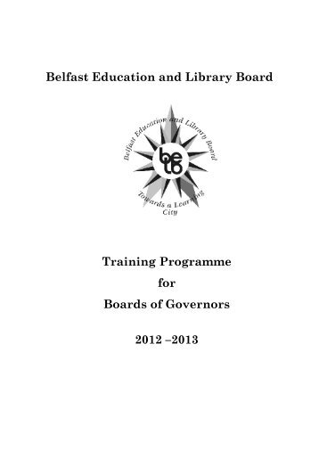 Board of Governors Training Booklet - Belfast Education & Library ...