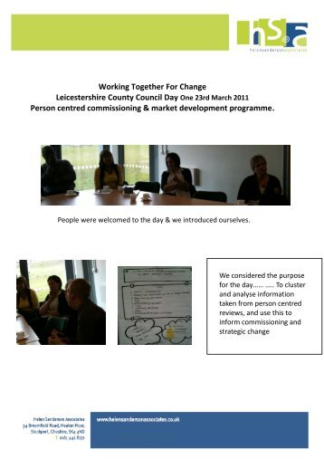 Leicestershire County Council Working Together for Change example