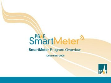 Smart Meter Program Overview - Institute for Electric Efficiency