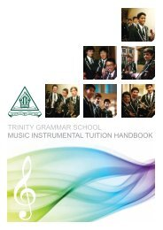 Private Music Tuition Application - Trinity Grammar School