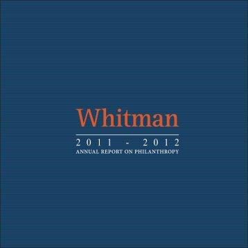 2011-2012 Whitman Annual Report - Whitman School of Management