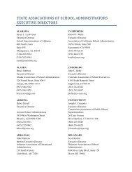 state associations of school administrators executive directors