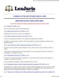 codigo civil de puerto rico, 1930 disposiciones preliminares