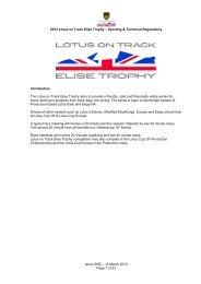 Lotus on Track Elise Trophy - MotorSport Vision Racing
