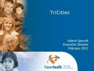 Tri-Cities - Fraser Health Authority