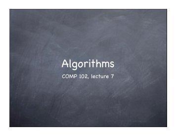 Algorithms III