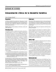 Interpretacion de la Biometria Hematica. - Revista de Medicina ...