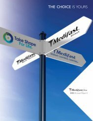 Medifast 2010 Annual Report - Direct Selling News