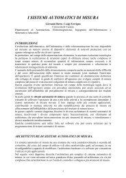 SISTEMI AUTOMATICI DI MISURA - Docente.unicas.it
