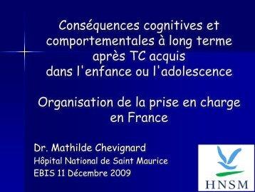 Atteinte cognitive après TC de l 'enfant - EBIS