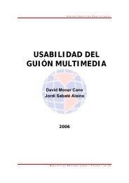 USABILIDAD DEL GUIÓN MULTIMEDIA