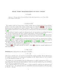 SMALL TORIC DEGENERATIONS OF FANO 3-FOLDS 1 ... - IPMU