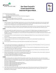 Coast Guard Pride Interest Project - Girl Scout Council - Colonial ...