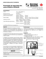 Pressostats de supervision des séries EPSA40 et EPSA120