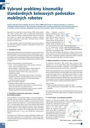 Vybrané problémy kinematiky štandardných ... - ATP Journal