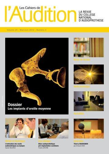 Télécharger le PDF complet N°3 Année 2012 - Collège National d ...