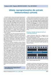 Układy reprogramowalne dla potrzeb telekomunikacji ... - ZMiTAC