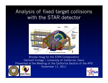 Analysis of fixed target collisions with the STAR detector